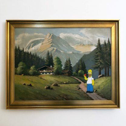 Ölgemälde mit Homer