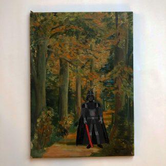 Herbstwald mit Darth Vader