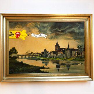 Stadt am Fluss meets Rolling Stones als Comic Art Detail