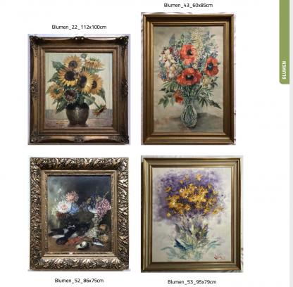 Ölgemälde Katalog Fotobuch Blumen