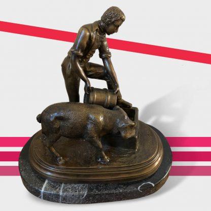 Bronzefigur Bonheur Nachguss Bauer