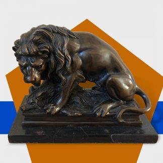 Bronzefigur Spritzguss Löwe