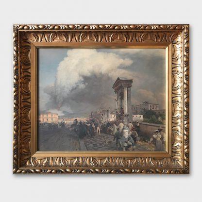 Ölgemälde: KOPIE Oswald Achenbach - Der Ausbruch des Vesuvs