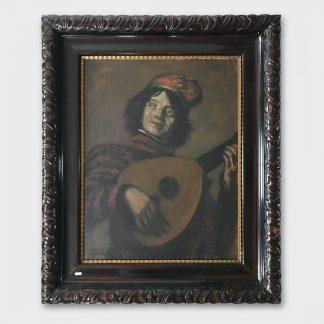 Ölgemälde KOPIE: Frans Hals - der Lautenspieler