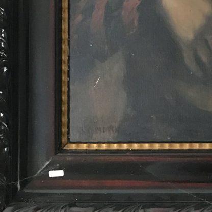 Ölgemälde KOPIE: Frans Hals - der Lautenspieler Signatur