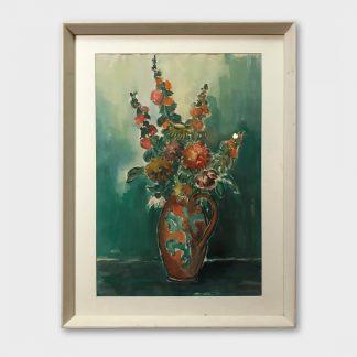 Aquarell: Max Lindh - Blumenstrauss