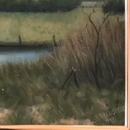 Gemälde mit Comic Art: Landschaft mit Homer Simpson Signatur