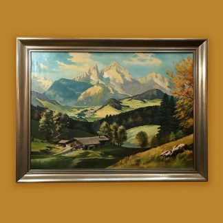 Ölgemälde Berge Witt Berglandschaft Watzmann