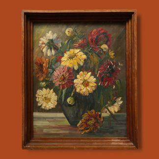 Ölgemälde Blumenstillleben Wulff Ghrysanthemen