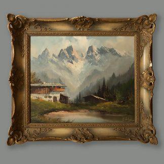 Ölgemälde Berge Günter Seekatz Dolomiten Ansicht