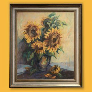 Gemaelde Karl Freede Sonnenblumen in Vase