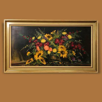 Ölgemälde Blumenstillleben Kurt Platen Herbstblumen